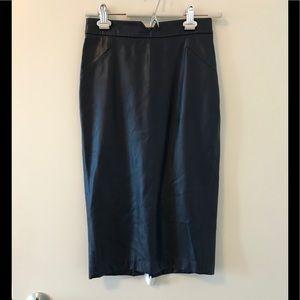 Zara pencil skirt faux leather
